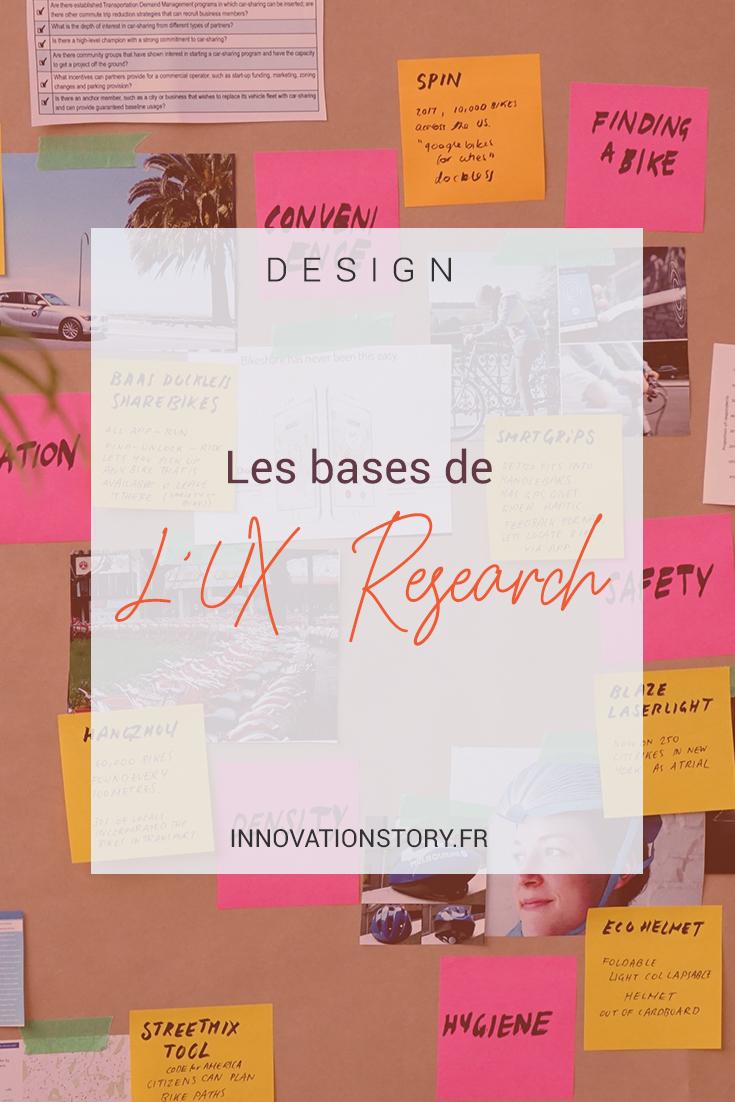 Les bases de l'UX Research - Innovation Story